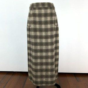Vtg The limited skirt size 6 plaid 30% wool long